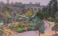 View of Cabrillo Bridge in Balboa Park
