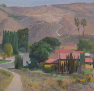 View from Hemingway, San Carlos, 24 x 24 inches, oil, 2013