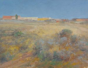 Looking Beyond This Field, 11 x 14 inches, oil on linen 2013 (sold)
