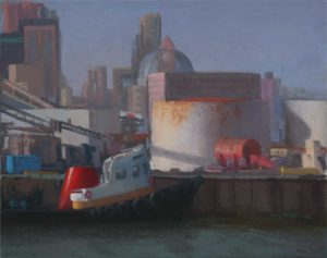 Tug and Tanked at Tenth St Terminal 20x24 inches 2014