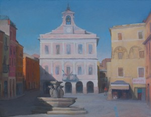 LarryGroff_Piazza Matteotti_35x27inches_oil_2014