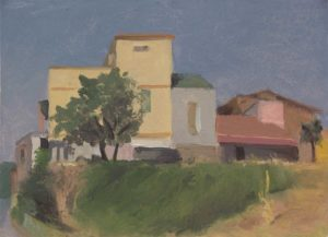 Home in Civita Castellana 11.5 x 15.5 inches, oil on paper mounted on panel, 2013