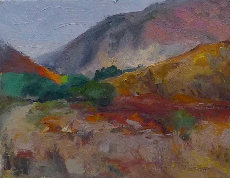 Mission Trails Caprice #2, oil on canvas, 2016
