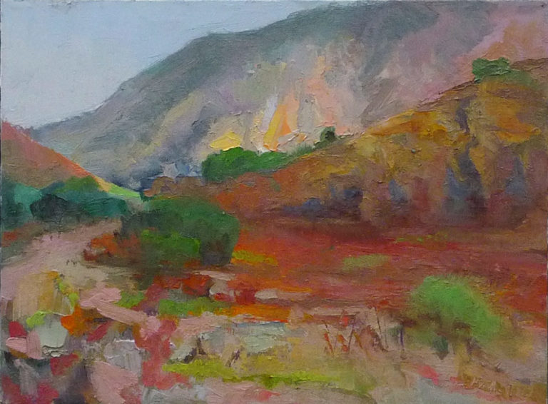 Mission Trails Caprice #1, oil on canvas, 2016