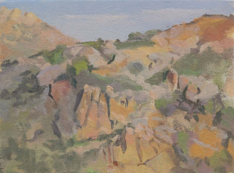 Raven's Peak, Anza, 12 x 16 inches, oil on paper mounted on board 2016