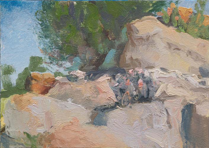 Anza Rock Group, 5 x 7 inches, oil on panel 2106
