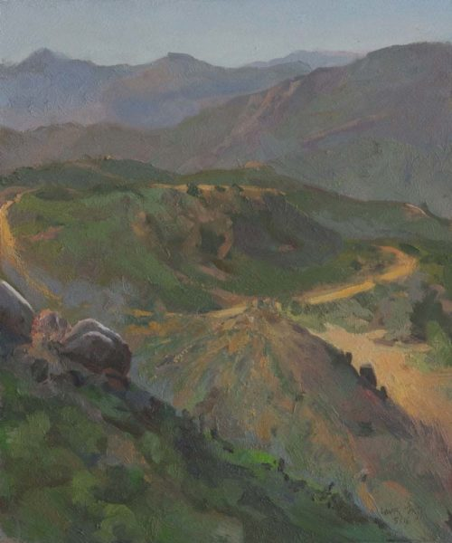 View from the Lion's Den, 10 x 11 inches, oil on paper mounted on board, 2106